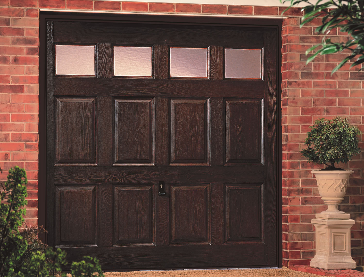 Kenmore Windows Dark Oak