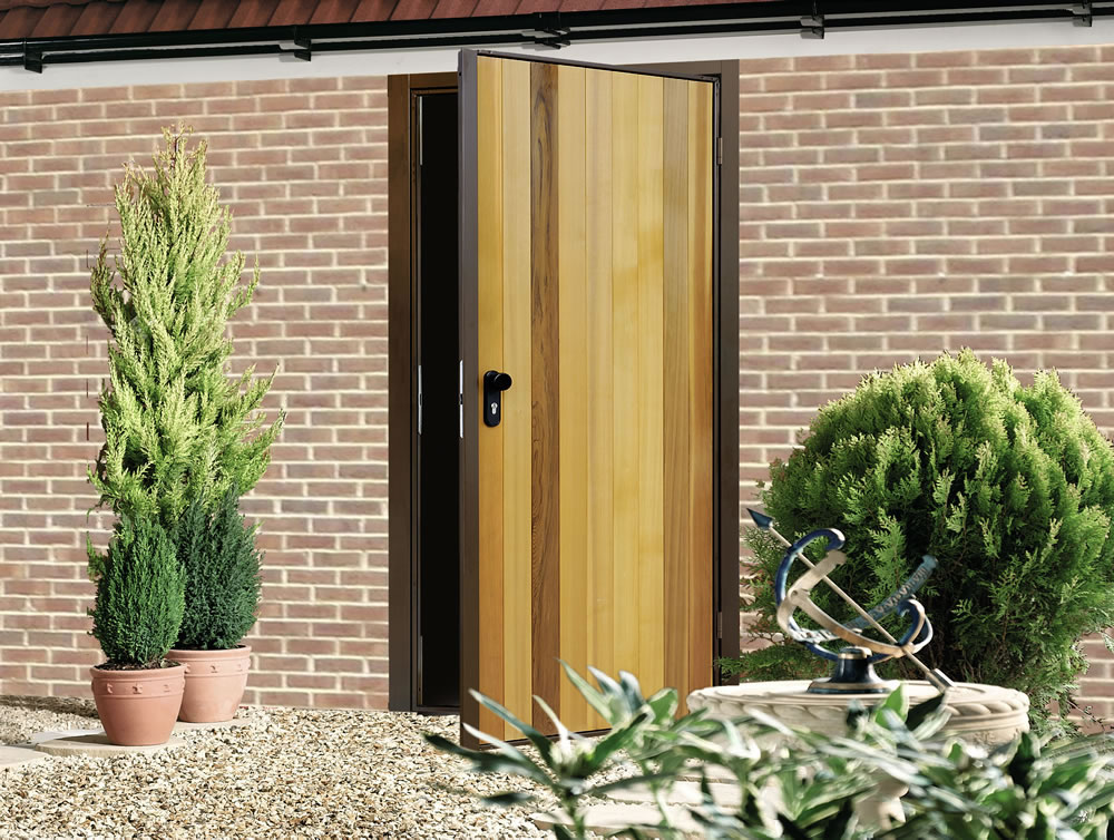 Vertical Cedar Garage Side Door (2)
