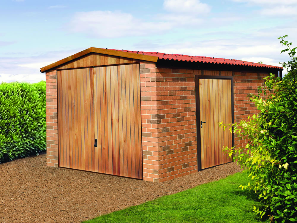 Vertical Cedar Garage Side Door